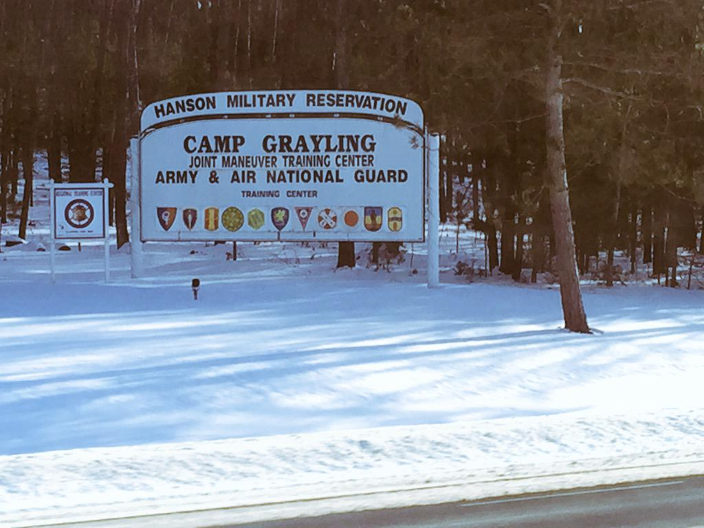 Great visit to Camp Grayling today. Cannot thank you men & women enough for your service! #DETCaravan http://t.co/xnjCZbtPQf