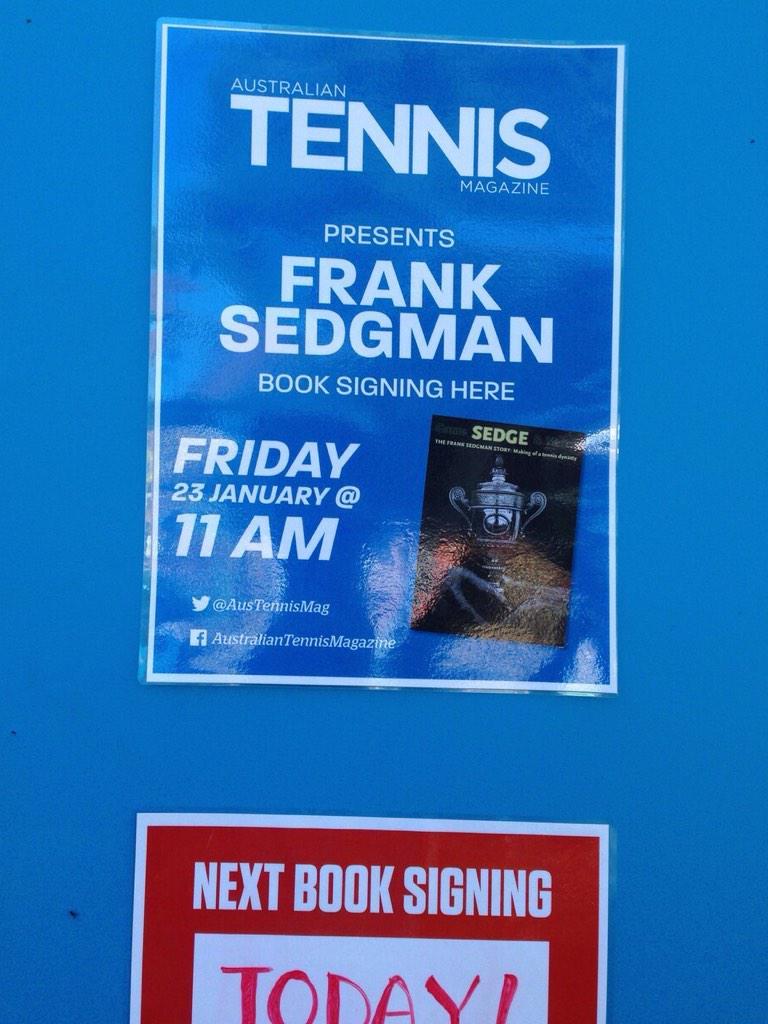 """AusOpen on Twitter """"Meet Aussie legend Frank Sedgman & pick up a"""
