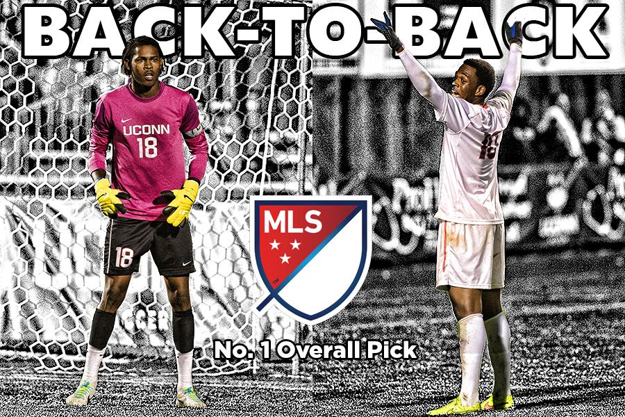 Orlando City's selection of @CyleLarin has made history. #UConn becomes the first school with back-to-back top picks. http://t.co/ajgWN2CRjp