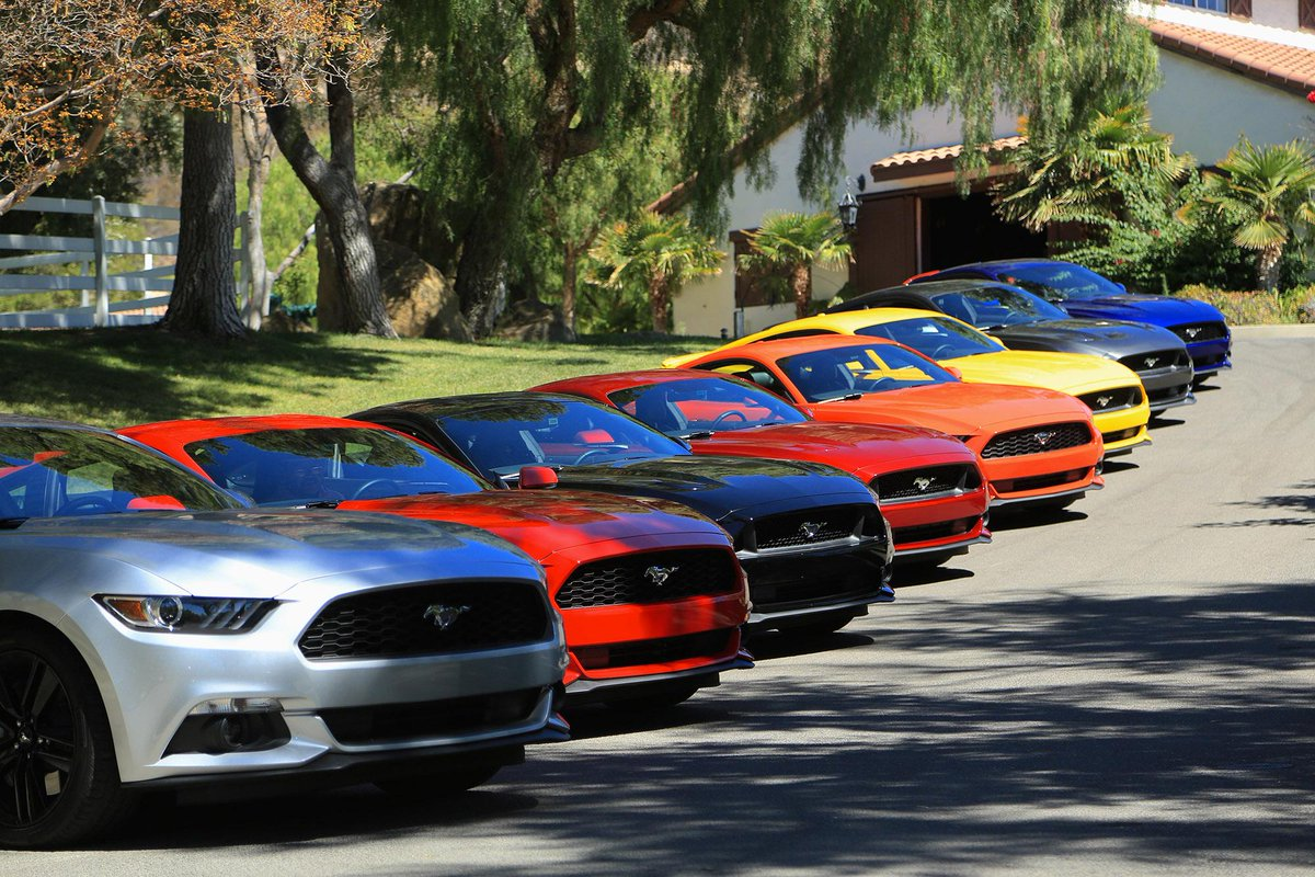 ford canada on twitter 2015 mustang rainbow which colour is your