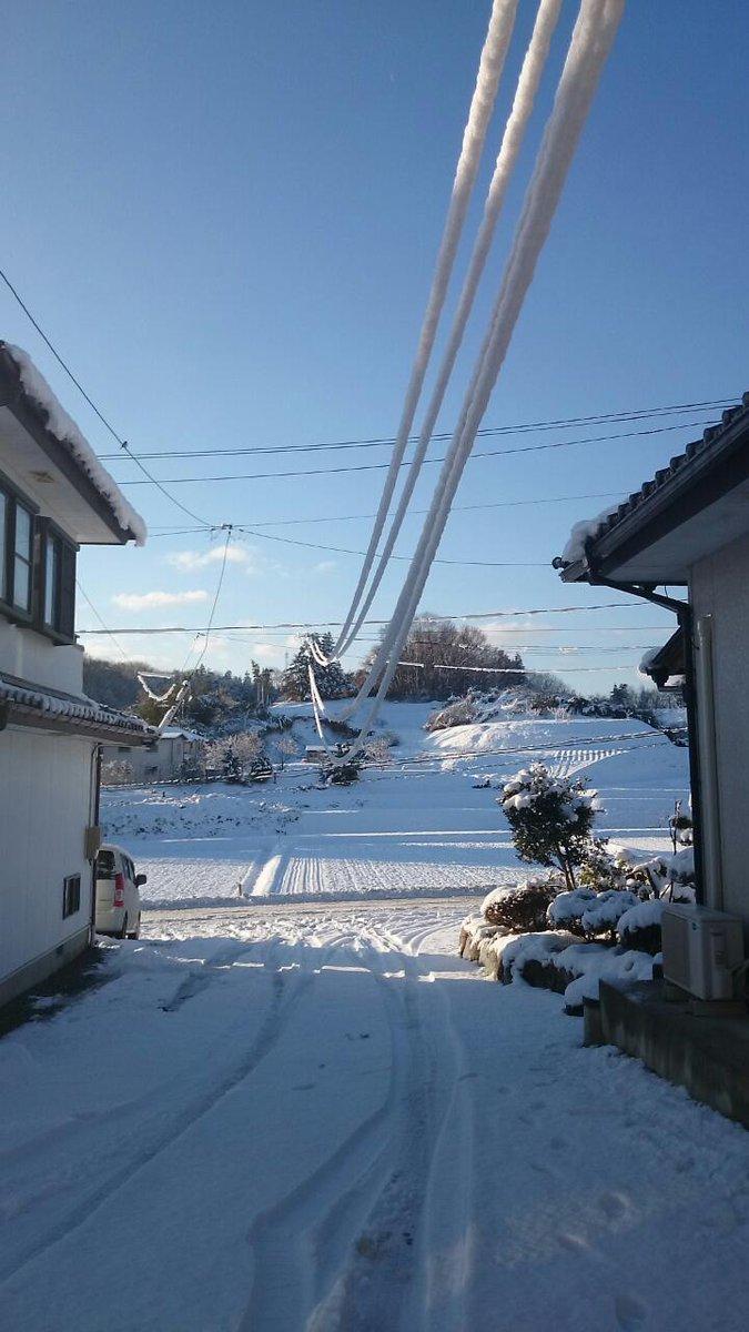 雪の重みで電線が http://t.co/I7kk7QJCFY