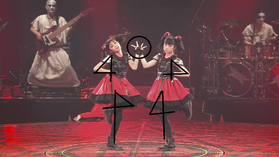 すご〜いΣ(゜ω゜)  RT @soulbicycle: ここまで考えて振り付けられていたとは。。 RT @babymetalnews_ #BABYMETAL Yon No Uta Live At Budokan http://t.co/5N1hLQzX0R