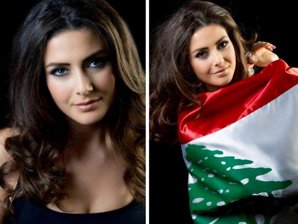 Saly Greige  - ❤️ 2014 2014 twitter @greige_saly lebanon,flag,cedar,love,missuniverse
