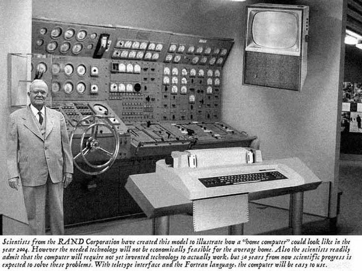 Scientist prediction from 1960s of what a 'home computer' will look like in 2004. @ValaAfshar http://t.co/plsvrtXq4y
