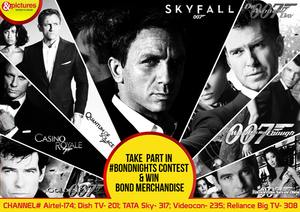 RT @AndPicturesIN Answer our #BONDNIGHTS contest questions and win exciting  Bond merchandise pic.twitter.com/hrn0JiELQ5