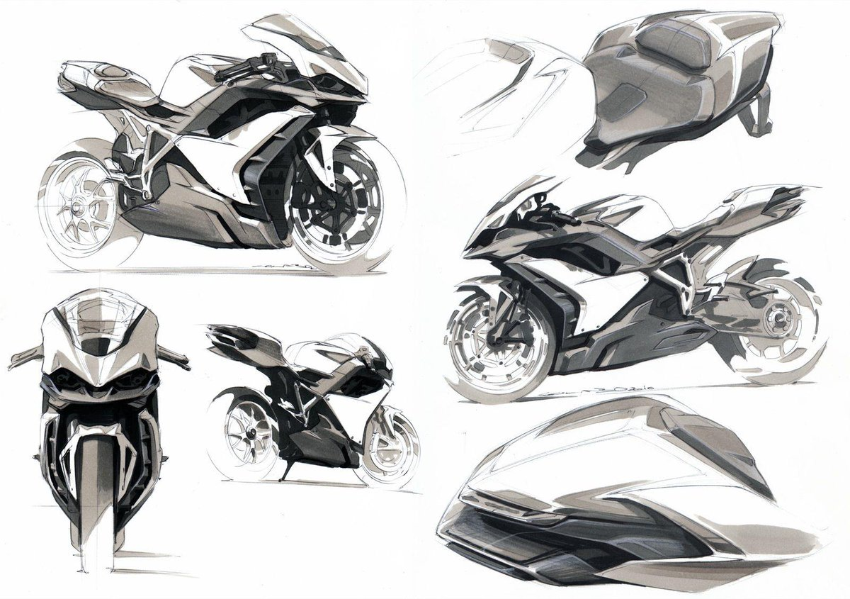 Form Trends On Twitter Ducati C12 R Concept Sketches By Anthony