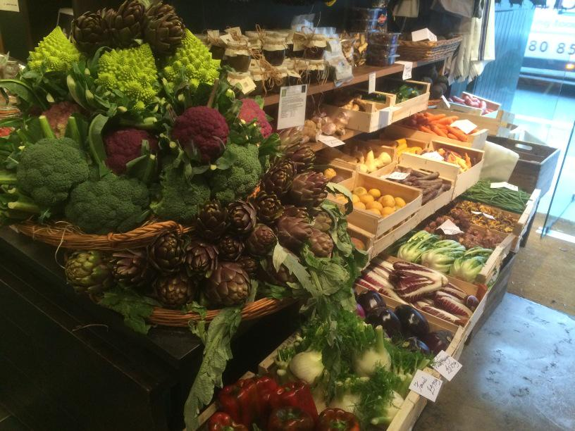 Entrance to La Fromagerie, Moxon Street today - #vegetableextravaganza http://t.co/RIQm6HDqhM