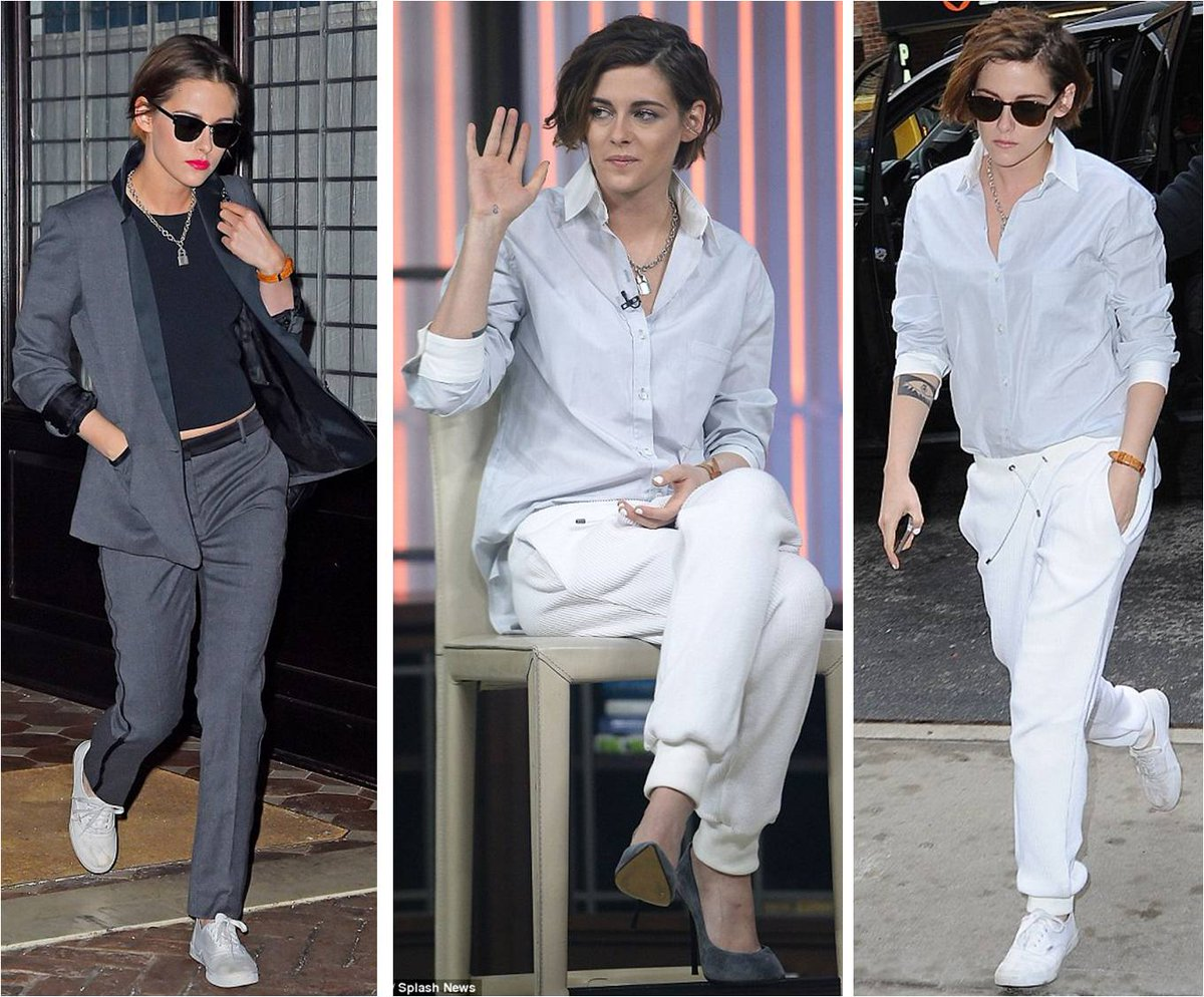 WOW! No one is doing androgynous chic as well as Kristen Stewart right now. LOVE the bright lippie too. http://t.co/zvuJVG05Pc