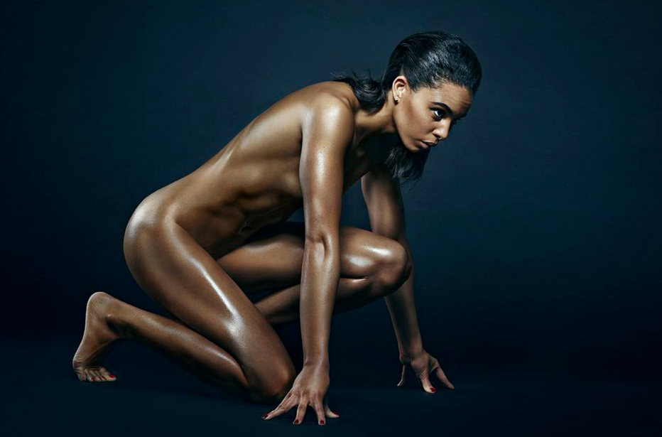 Fotos de Louise Hazel pelada a atleta medalhista de ouro de heptatlo
