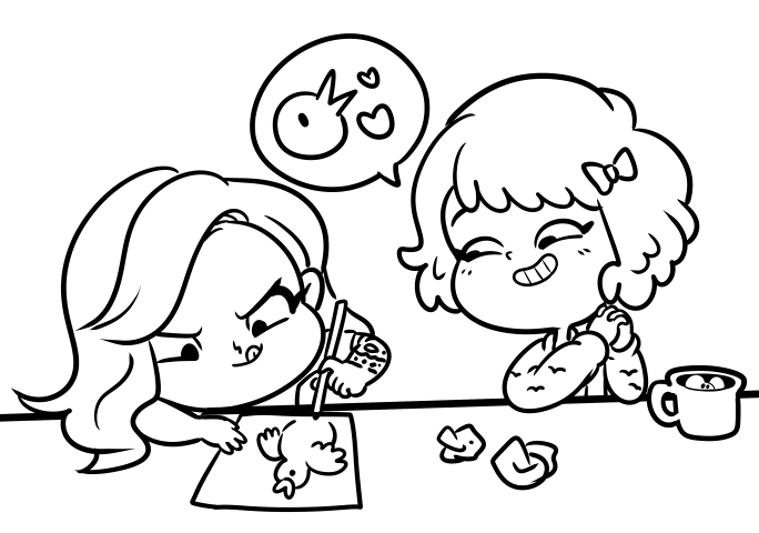 Line Drawing Reddit : Suzy and holly together gamegrumps