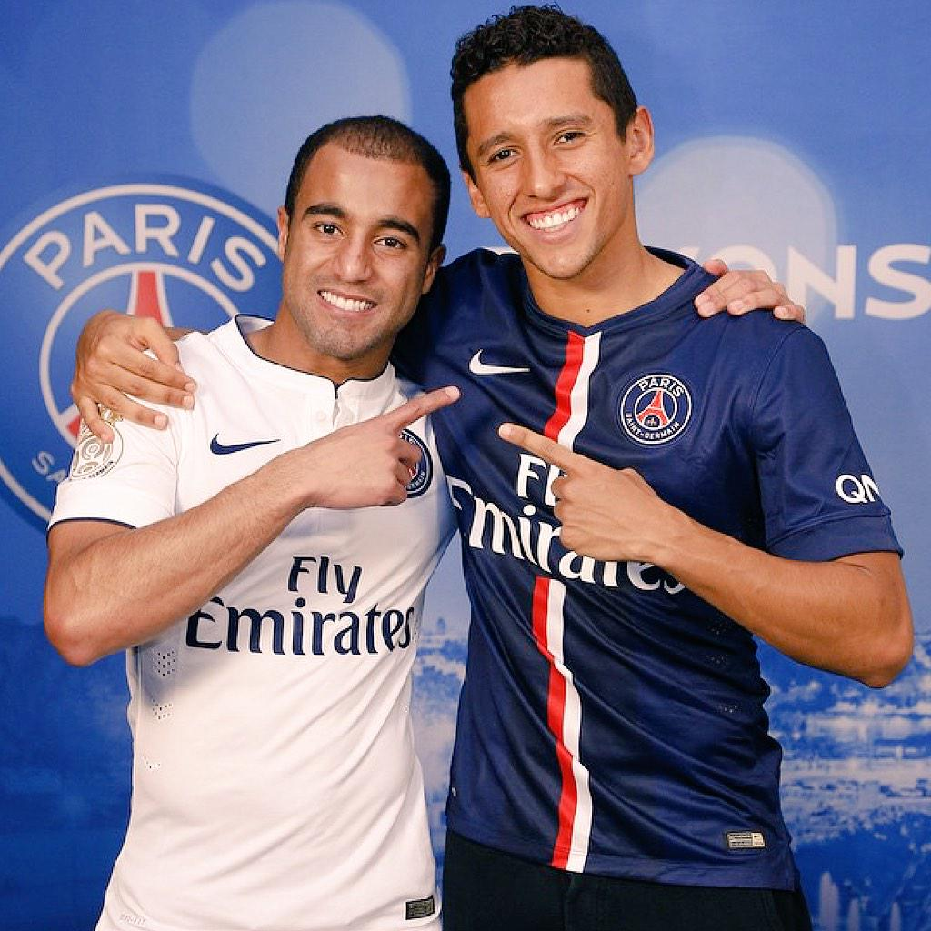 Photo of Marquinhos & his friend, football player  Lucas
