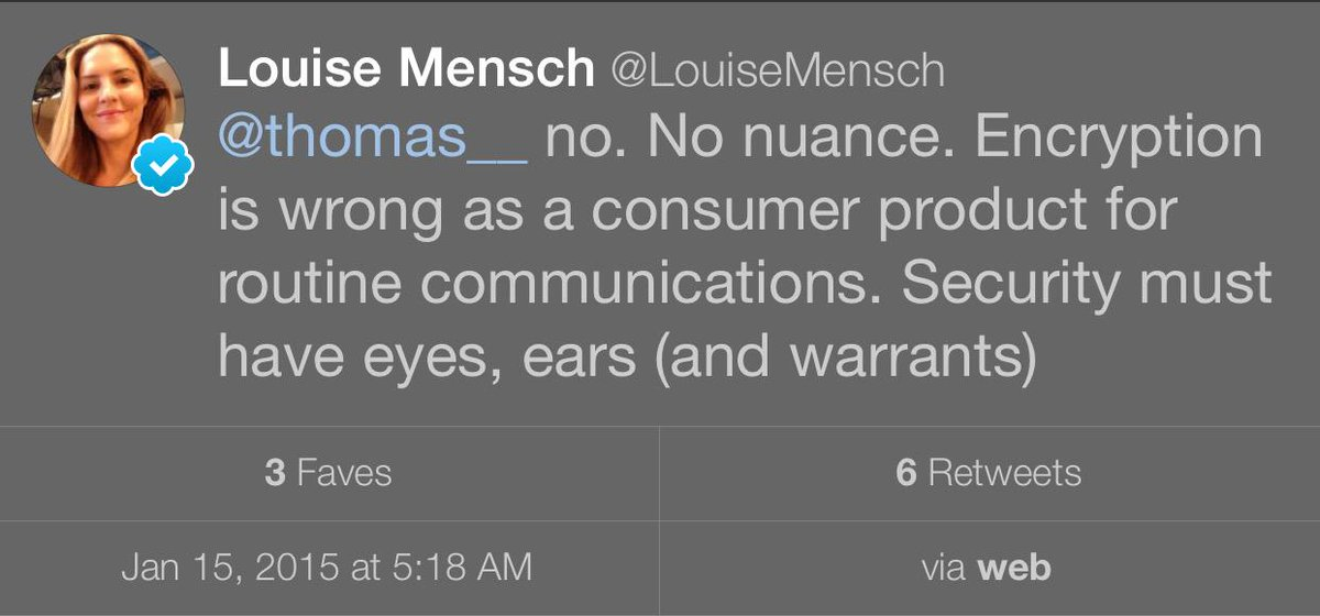 Just in case @LouiseMensch decides to delete this gem, here is a screen grab. http://t.co/Zh6SHQPYie