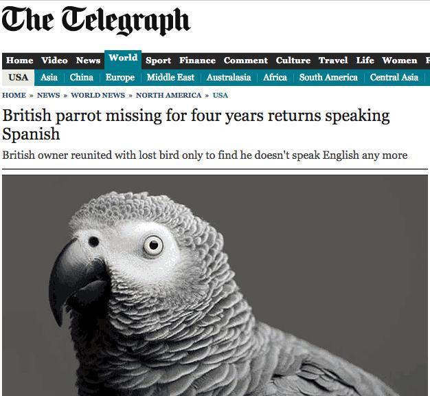 "Danos un beso.. Danos un beso RT @JFXM: Headline of the year so far! Polly quiere una galleta! http://t.co/dLbGvXmVnk"""