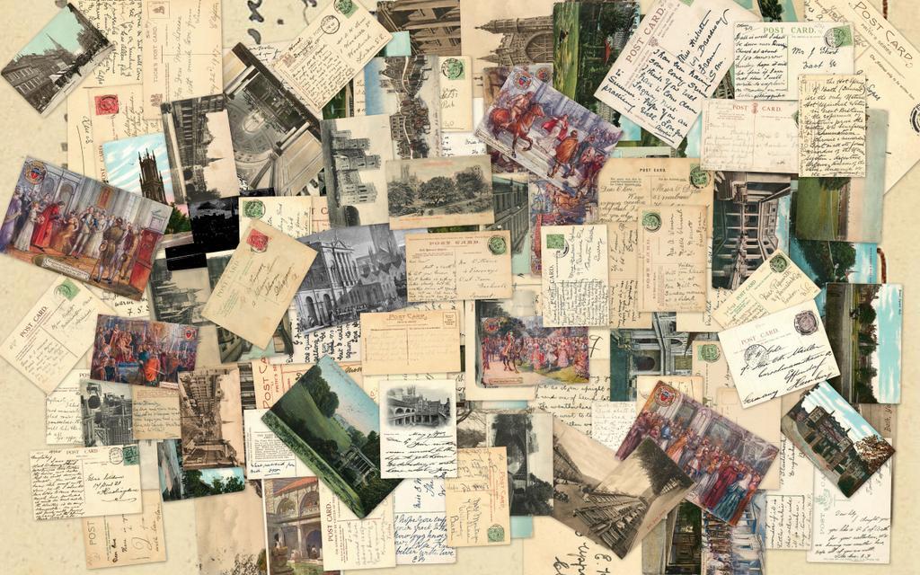 Фото коллажи из открыток