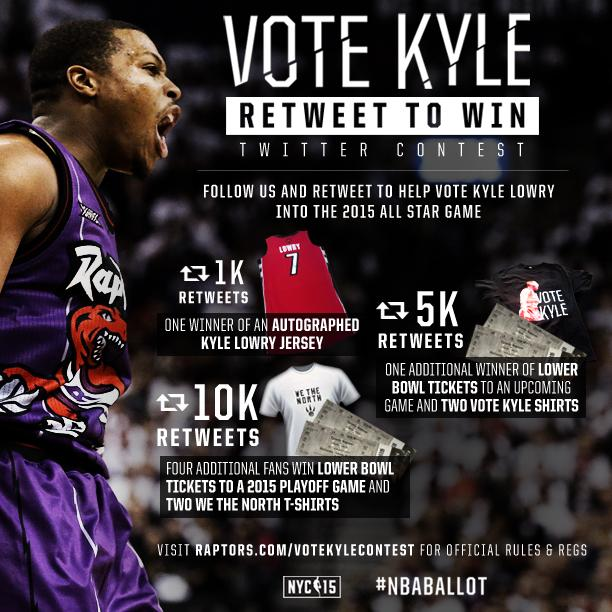 Retweet this to VOTE Kyle Lowry and for a chance to win a signed jersey, playoff tickets and more! #NBABallot #RTZ http://t.co/0OpO1y5lIn
