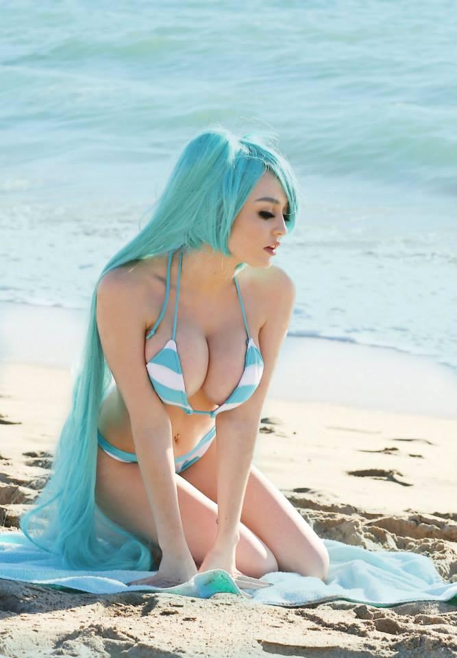 Damonx On Twitter Quot Hatsune Miku Bikini Cosplay Par