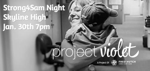 Strong4Sam Night Jan. 30th 7pm  Funds raised go to a worthy cause, Project Violet https://t.co/w0FPPaubXv http://t.co/bWfrGPFZhd