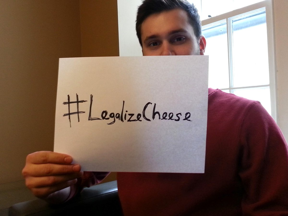 Send your photo with a sign stating #LegalizeCheese by 5 p.m. 1/17. We'll send you a coupon http://t.co/hKP1hq8vfl http://t.co/Yry1EQK70l