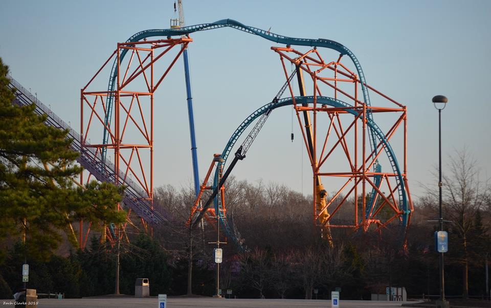 Coaster Park Klub On Twitter Track Work On Tempesto At Busch Gardens Williamsburg Has Been