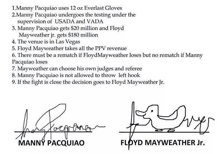 I'm sorry, peep Floyd Mayweather's sig