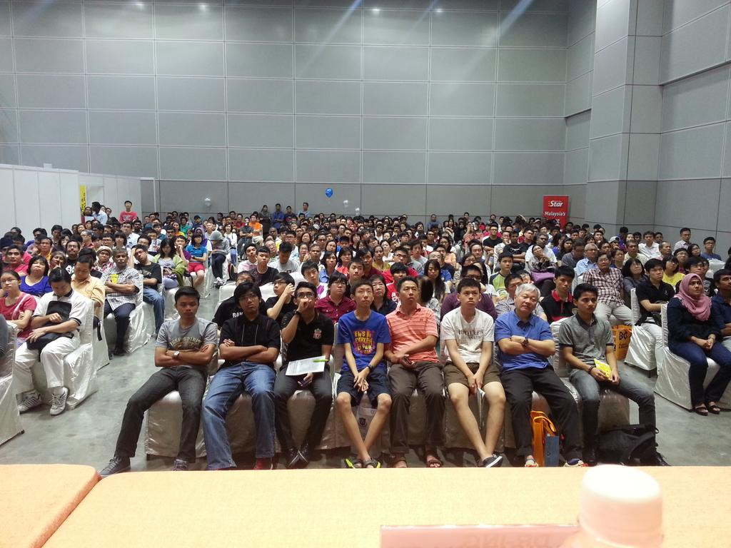 the crowd at Star Education Fair