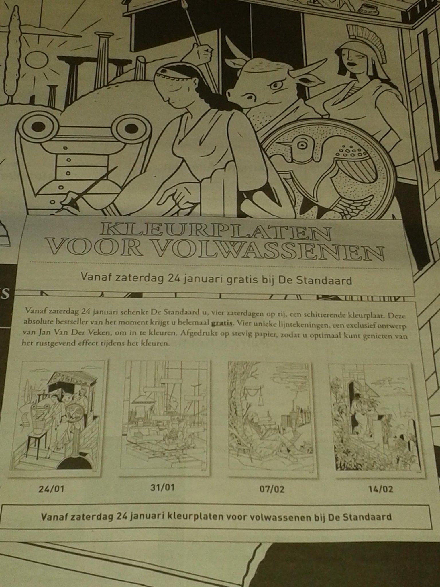 Kleurplaten Voor Volwassenen De Standaard.Peter Casteels On Twitter Vanaf Volgende Zaterdag Kleurplaten Voor