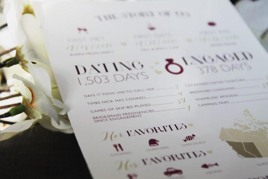 Lupin Design Studio On Twitter How Perfect Is This Wedding Program The Story Of Us A Great Way To Keep Your Guests Entertained While They Wait