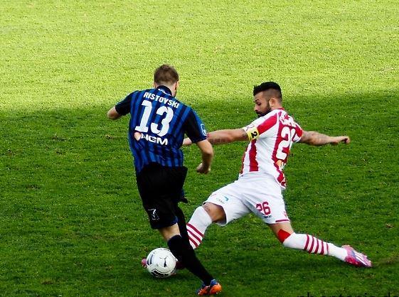 Ristovski looks to escape his marker