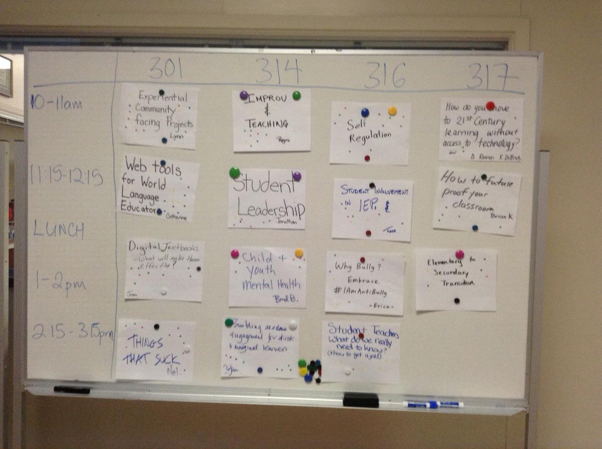 Board 1 of the schedule for #edcampdelta http://t.co/7aXKfRi6dD