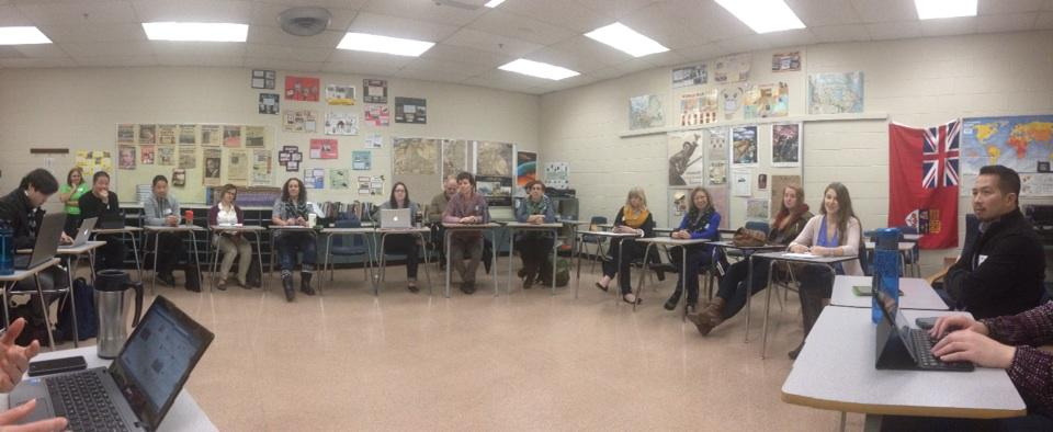 A typical session at #edcampdelta...thoughtful conversation, ideas, perspectives. http://t.co/BbOMLI7f0N