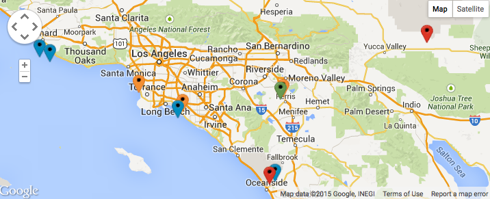Jennifer Briney on Twitter AriShaffir Heres a map of the SoCal