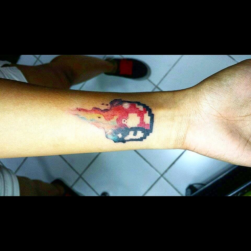 Whiplash Tattoo On Twitter Super Mario S 1up Mushroom In