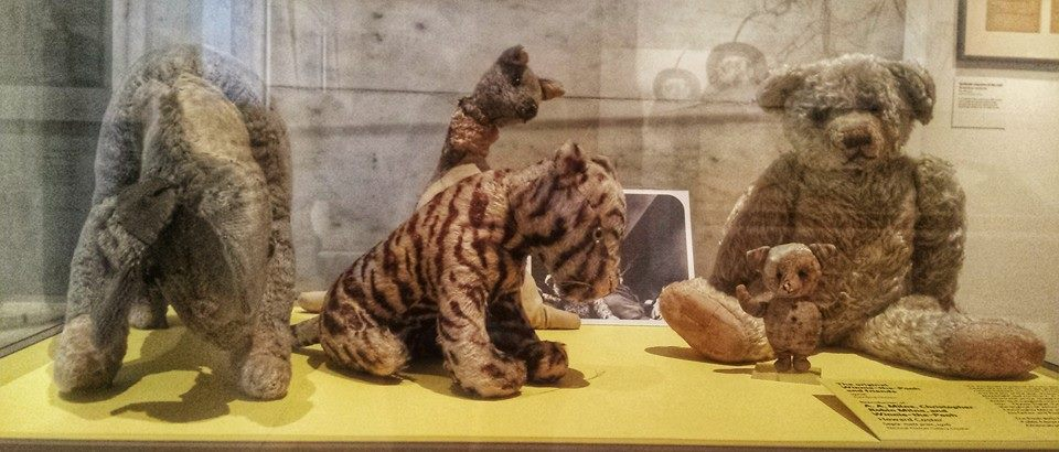 These are the actual soft toys that inspired AA Milne (they're in the New York Public Library) #winniethepoohday http://t.co/3u9nuMs4oT
