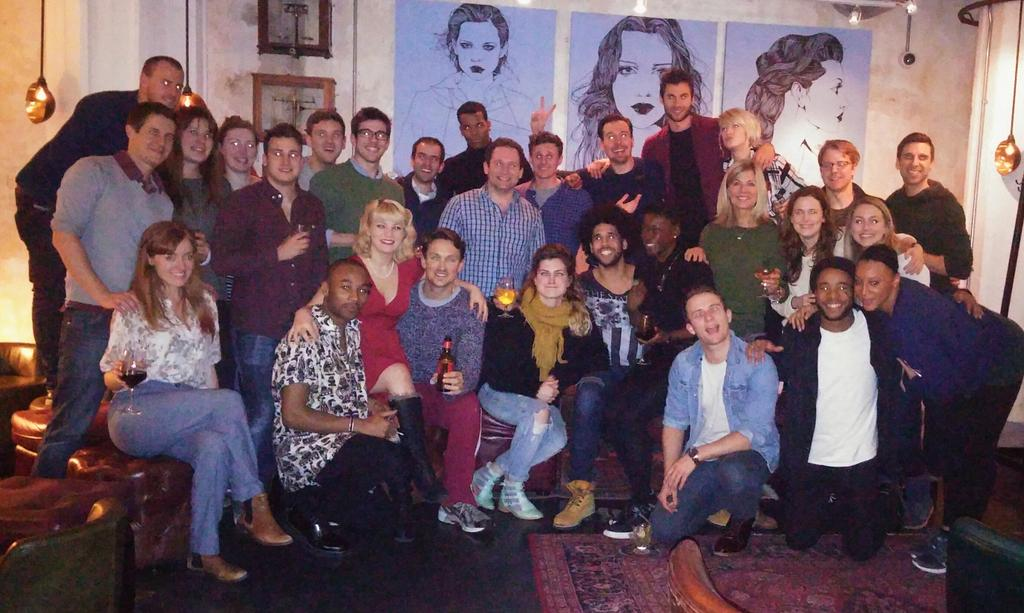 Wonderful evening with the @BeautifulInLDN team. We have an awesome creative team #lovethoseAmericans http://t.co/OgjHOQmNBF