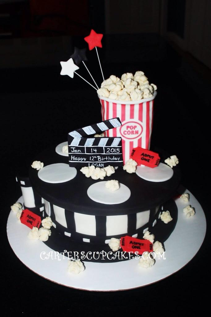 Carters Cakes On Twitter Movie Reel Themed Birthday Cake Popcorn