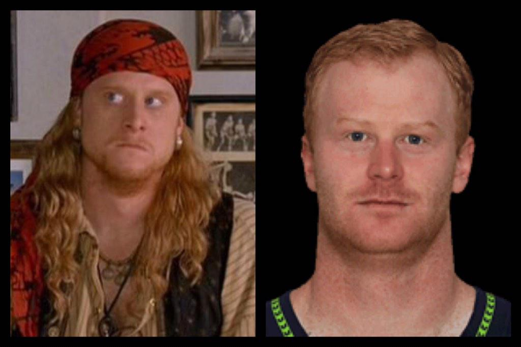 bercules on twitter steve the pirate is actually seahawks punter
