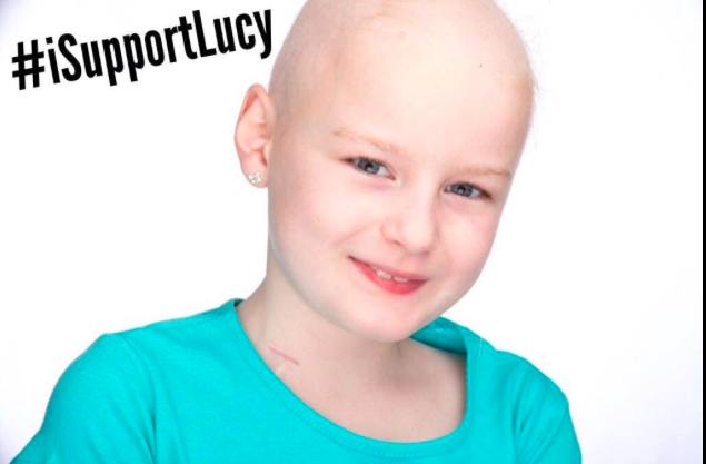 This is my friend Lucy age 9. Fighting cancer - yet refused a medical card by the Irish Health Service #iSupportLucy http://t.co/JnMMklDafW