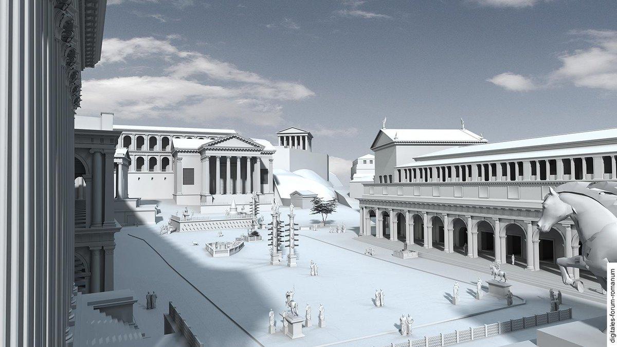 """Gareth Harney on Twitter: """"Roman Forum under Augustus ..."""
