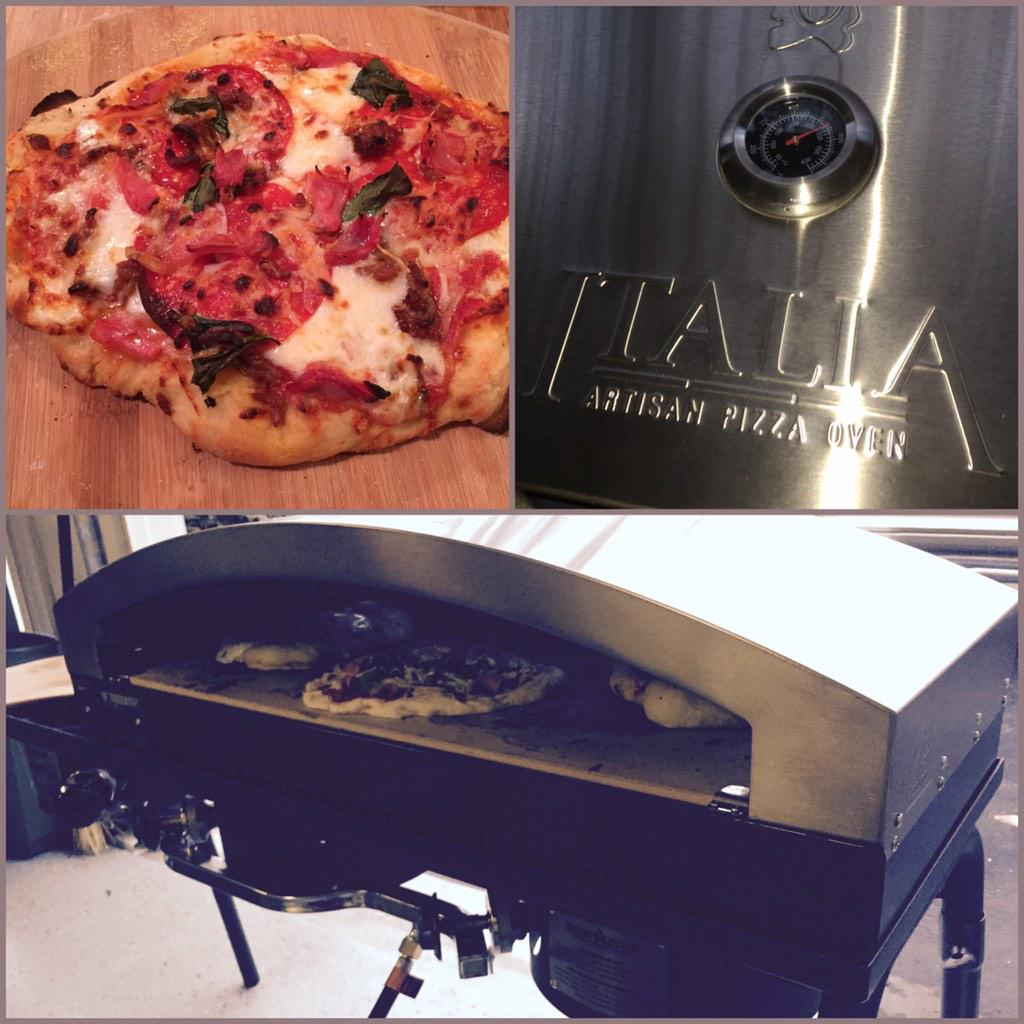Making pizza in our @camp_chef oven for @nfl football Sunday! Yay!! #pizza http://t.co/svXyeaIYhf
