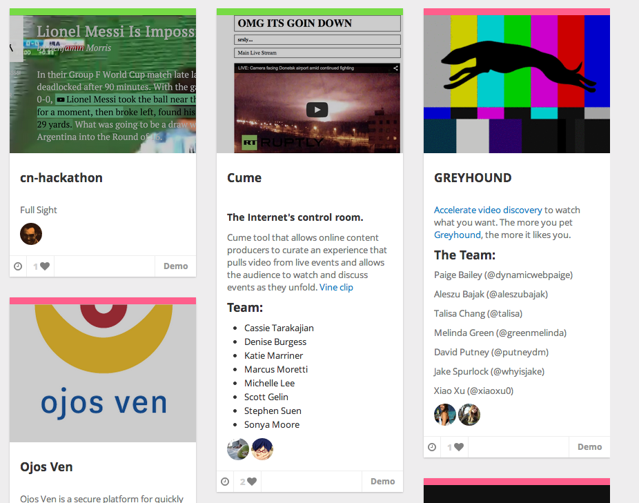Find all #videohack projects from #hackingjournalism here: http://t.co/ehqc9PyOy2 via @jmfbrooks http://t.co/8ZFBYBNumF