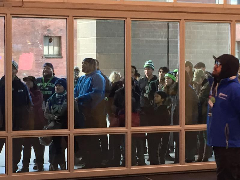 STOP LEAVING GAMES EARLY, PEOPLE! RT @ChrisDaniels5: That's what happens when you leave a game early.... #GBvsSEA http://t.co/Ots2OnNu6J
