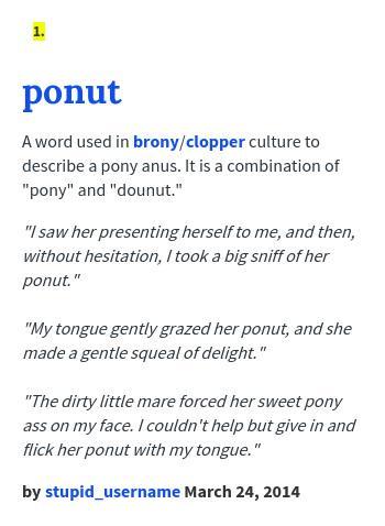 Brony urban dictionary
