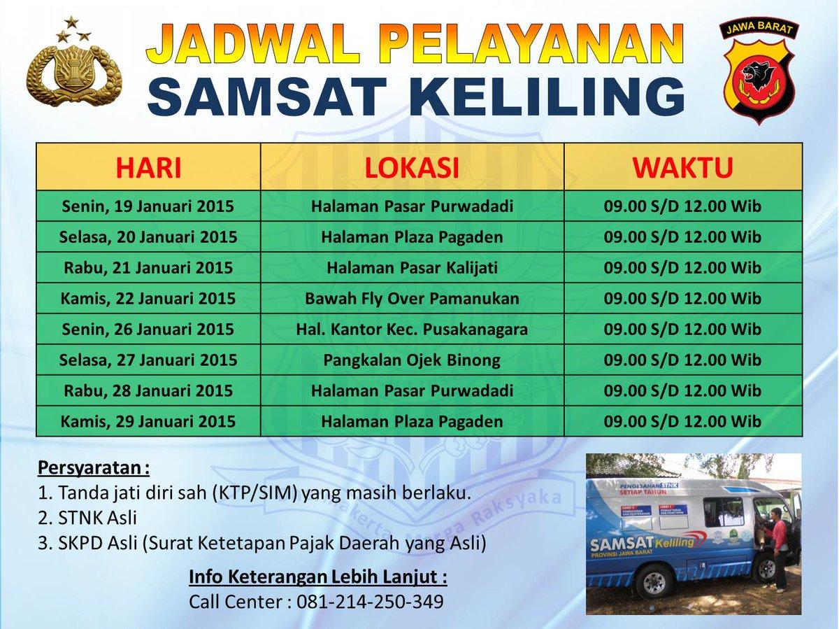 Ini Jadwal SIM Keliling di Kabupaten Subang