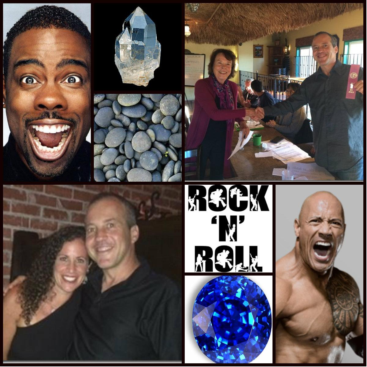 Chris Rock, Crystal, River Rock, Nancy Jensen and Mark Epstein, Dwayne