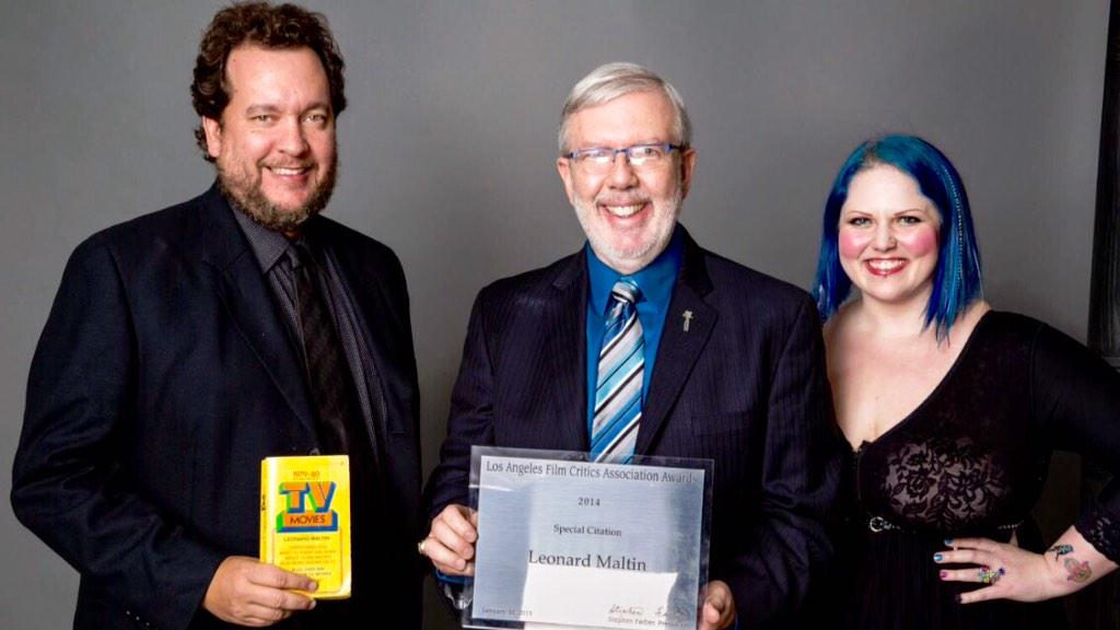 Leonard Maltin on Twitter With Robert Abele and my daughter