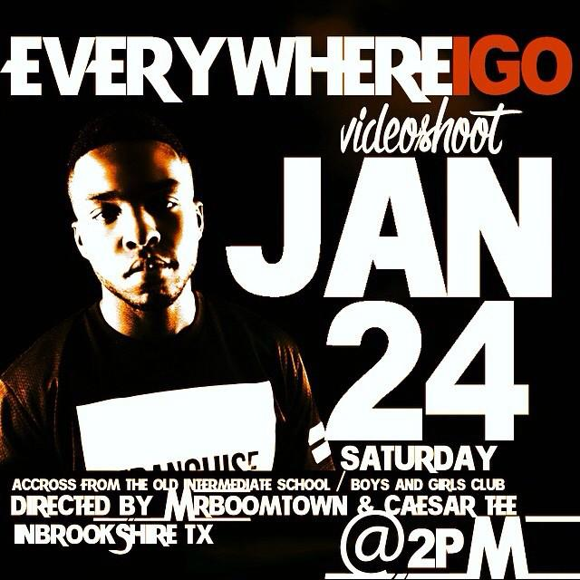 """Jan 24th """"EVERYWHERE I GO"""" video Shoot @DJCHOSE feat @GoMCBeezy come fux with us #BrookGang Music http://t.co/K0WNxiWWSe"""