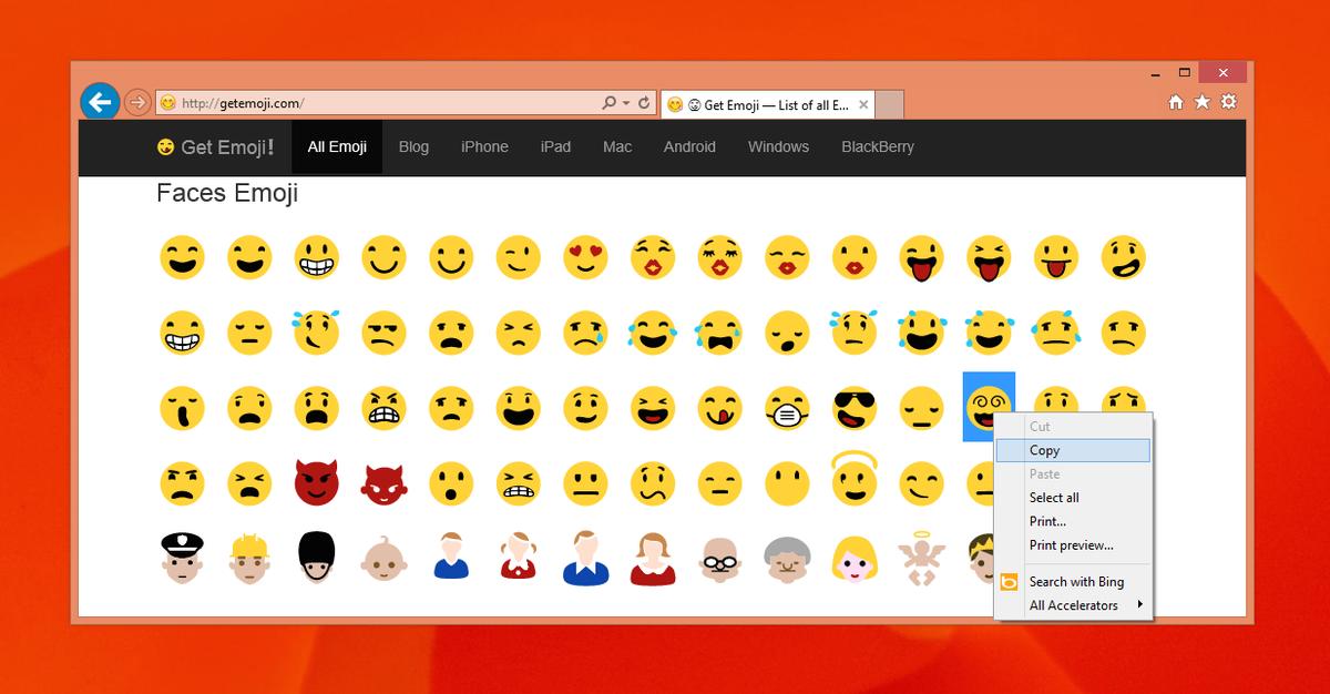 Copy paste emojis black and white