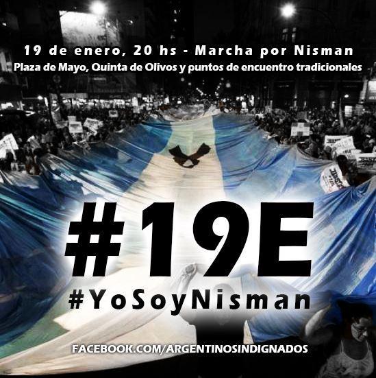 #LaMuerteDeNisman   En las redes sociales ya convocan a una marcha #19E http://t.co/lDaSlaAC2O