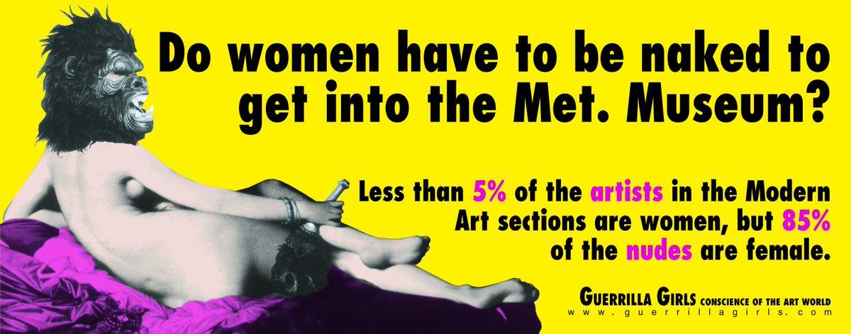 Hoy, 19 h. Inauguración #GuerrillaGirls 1985-2015 30 años de arte feminista. Entrada libre http://t.co/br8ydOzMbu
