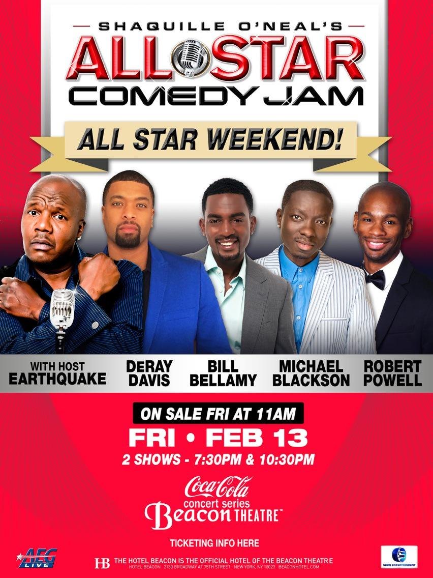 shaquille oneal all star comedy jam 2016